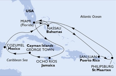 United States,Bahamas,Puerto Rico,Sint Maarten (Dutch part),Jamaica,Cayman Islands,Mexico