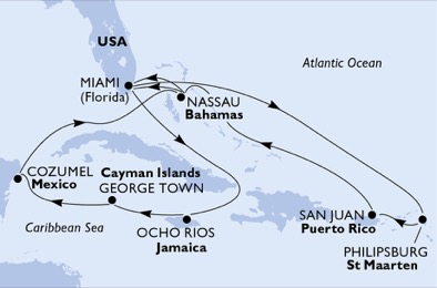 United States,Jamaica,Cayman Islands,Mexico,Bahamas,Sint Maarten (Dutch part),Puerto Rico