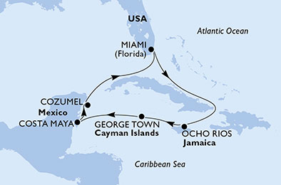 United States, Jamaica, Cayman Islands, Mexico