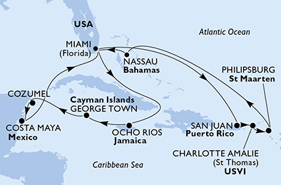 United States,Puerto Rico,Virgin Islands (U.S.),Sint Maarten (Dutch part),Bahamas,Jamaica,Cayman Islands,Mexico