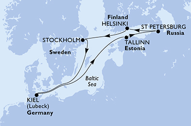 Germany, Estonia, Russian Federation, Finland, Sweden