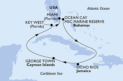 United States, Bahamas, Jamaica, Cayman Islands